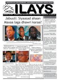 Jabuuti: Siyaasad ahaan Maxaa laga dhawri karaa? - SomaliTalk.com