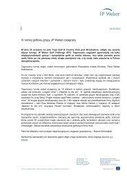 Informacja prasowa - JP Weber