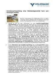 Vermietung/Verpachtung einer Betriebsliegenschaft kann zum ...