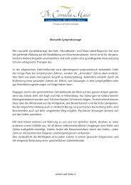 Manuelle Lymphdrainage Die manuelle Lymphdrainage der Hals ...