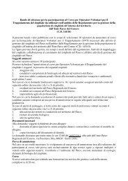Bando di selezione per la partecipazione al Corso per Operatori ...