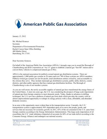 January 15, 2012 Mr. Michael Krancer Secretary Department of ...
