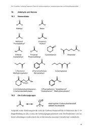 10. Aldehyde und Ketone 10.1 Nomenklatur R H O R R ... - Christoffers