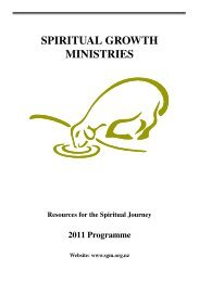 Resources For The Spiritual Journey - Spiritual Growth Ministries