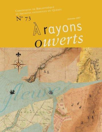 Automne 2007 - Bibliothèque et Archives nationales du Québec