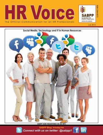 HR Voice July 2013 Newletter Download - SABPP