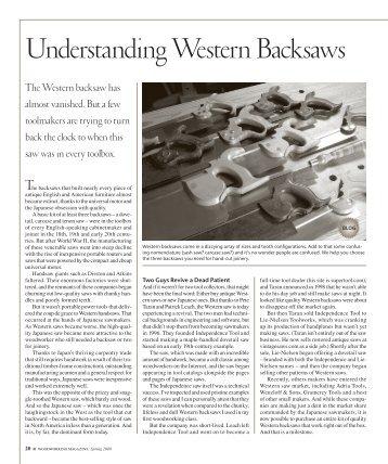 WesternBacksaws2.pdf - Popular Woodworking Magazine