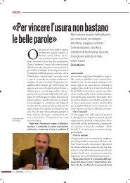 Dossier Lazio Settembre 2011 - Sos Impresa