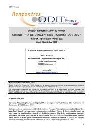 Grand Prix de l'Ingénierie Touristique - Dossier de candidature