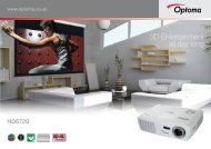 HD6720 Brochure - Optoma