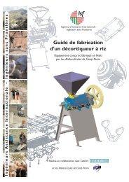 Guide de fabrication d'un décortiqueur à riz - Codéart