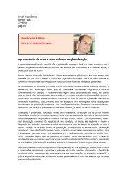 Agravamento da crise e seus reflexos na globalização - LO Baptista ...