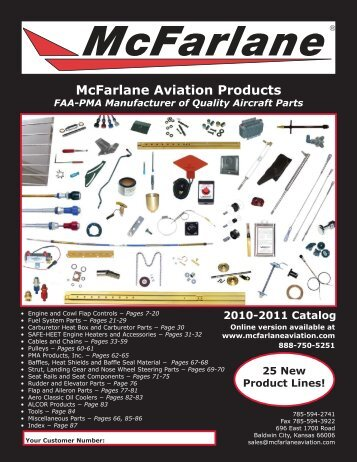 New - McFarlane Aviation Products