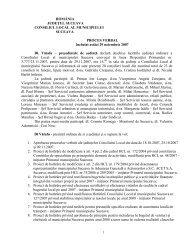 Proces verbal şedinţa 29 Noiembrie 2007 - Primăria Municipiului ...