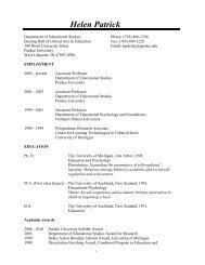 Patrick Vita Nov 07 - College of Education - Purdue University