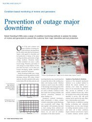 Prevention of outage major downtime