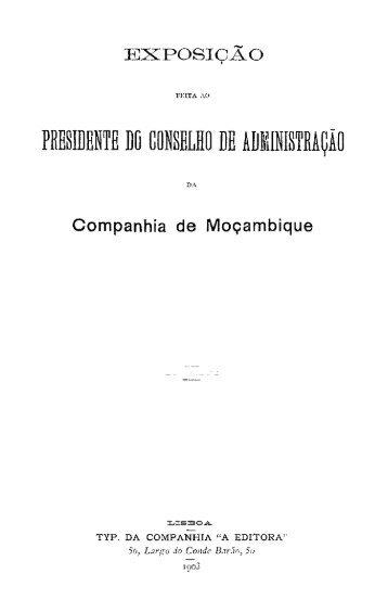 Andrade, Alfredo Augusto Freire de, Exposição feita ao Presidente ...