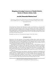 Mapping microalgal resources of Idukki District, Kerala in Western ...