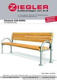 Sitzbank SAN REMO - Ziegler