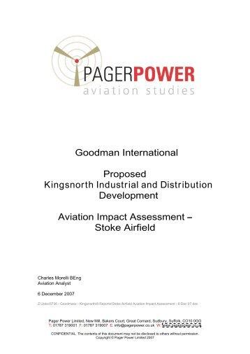 Aviation Impact Assessment Stoke Airfield