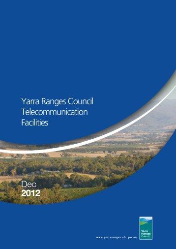 Yarra Ranges Council Telecommunication Facilities Dec 2012