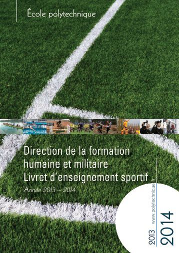Livret enseignement sport - Résultats du concours - Ecole ...