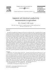 Apparent soil electrical conductivity measurements in agriculture