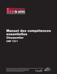 Manuel des compétences essentielles : Charpentier - Base de ...