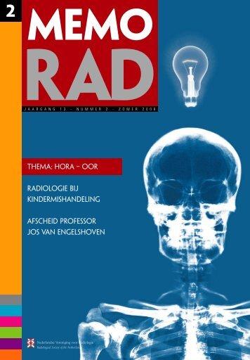 MemoRad 2008-2 - Nederlandse Vereniging voor Radiologie