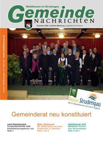 Gemeinde-Nachricht 12-09.pmd - Marktgemeinde Waldhausen im ...