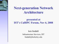 Next-generation Network Architecture presented at IST's CalHPC ...