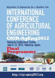 Cigrageng2012 Final Programme - International Conference of ...