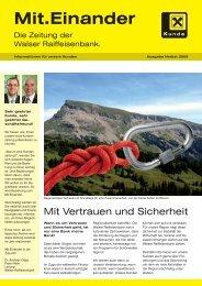 Ausgabe Herbst 2009 - Walser Raiffeisenbank