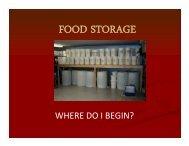 Food Storage Where do I Begin - ResilienceNW.org