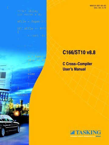 C166/ST10 C Cross-Compiler User's Manual - Tasking