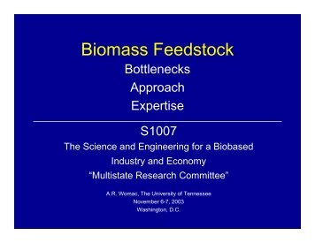 Feedstock - College of Engineering, Michigan State University