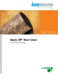 Sonic XP® Duct Liner - Knauf Insulation