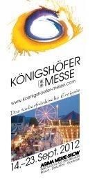 14.–23.Sept.2012 - Königshöfer Messe