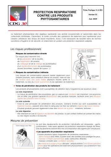 protection respiratoire contre les produits phytosanitaires - CDG Gard