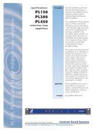 P L1 5 0, P L3 00, and P L45 0 induction loop ... - Centrum Sound