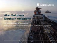 Aker Solutions Northern Ambitions