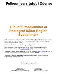 Folkeuniversitetet i Odense Tilbud til medlemmer af Radiograf RÃ¥det ...
