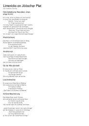 Limericks en Jöösch$r Plat - Homepage von Friedhelm Schmitz