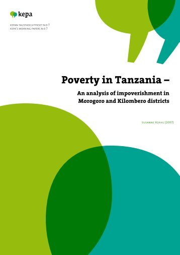Poverty in Tanzania - An Analysis of Impoverishment ... - Into-eBooks