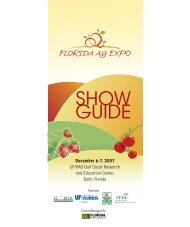 Ag Expo Show Guide07.indd - Florida Ag Expo - University of Florida