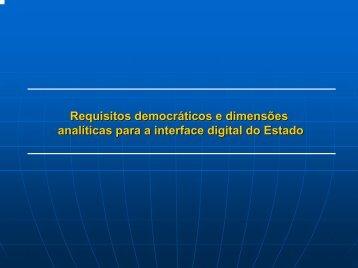 requisitos democráticos para a interface digital do Estado - 2i2p