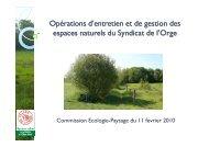 Gestion espaces naturels - Sivoa