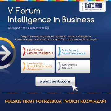 V Forum Intelligence in Business - Blue Business Media