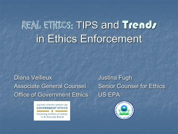 tips and trends final.pdf - US Office of Government Ethics