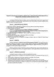 Pliego de Cláusulas para la restauración de la Sillería del Coro de ...